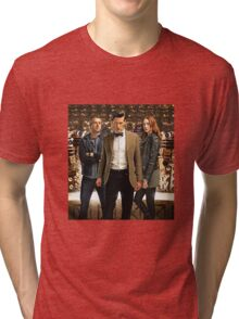 Doctor Who with Daleks Tri-blend T-Shirt