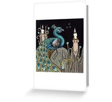 Mrs Peacock Greeting Card