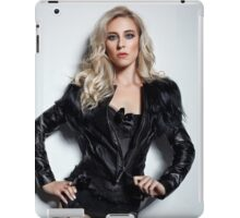 A Blonde In Leather iPad Case/Skin