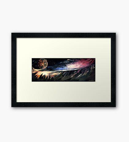 Scifi landscape  Framed Print