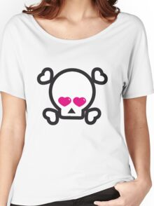 skull heart British @ Heart Heart Pirates My Heart Will Go on  Women's Relaxed Fit T-Shirt