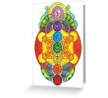 Rainbow Chakra! Greeting Card