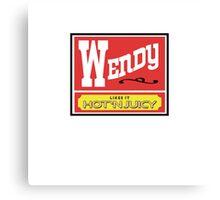 Wendy Likes it Hot 'n Juicy Canvas Print
