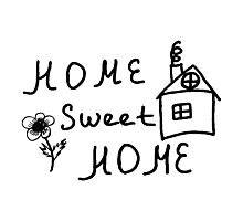 Home sweet home sketch Photographic Print