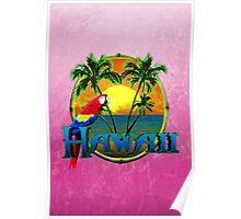 Hawaii Sunset Pink Poster