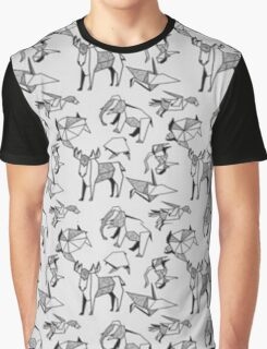 Origami Animals Graphic T-Shirt