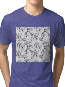 Origami Animals Tri-blend T-Shirt