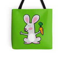 Cute hungry rabbit Tote Bag