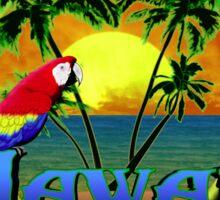 Tropical Hawaiia Sunset Sticker