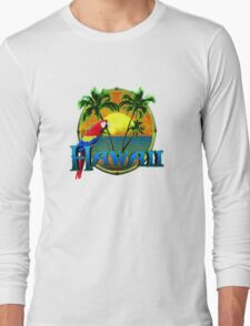 Hawaii Sunset Long Sleeve T-Shirt