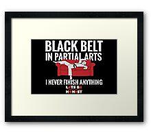 Black Belt In Partial Arts Framed Print