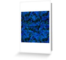 Retro Abstract Charcoal Sapphire Blue Greeting Card
