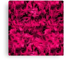 Retro Abstract Magenta Rose Canvas Print