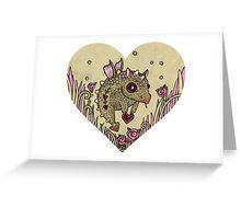 Valentine Dragon Greeting Card