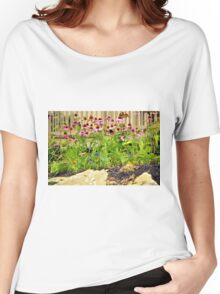 Pink Flowers by the Rocks Women's Relaxed Fit T-Shirt