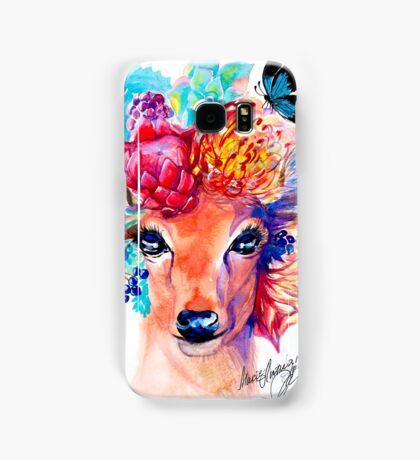 rain deer with flower crown forest animal Samsung Galaxy Case/Skin