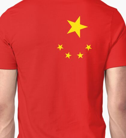 CHINA, CHINESE, Chinese stars, Chinese Flag, Flag of China, People's Republic of China, Portrait Unisex T-Shirt