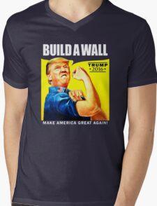 Build a Wall Mens V-Neck T-Shirt