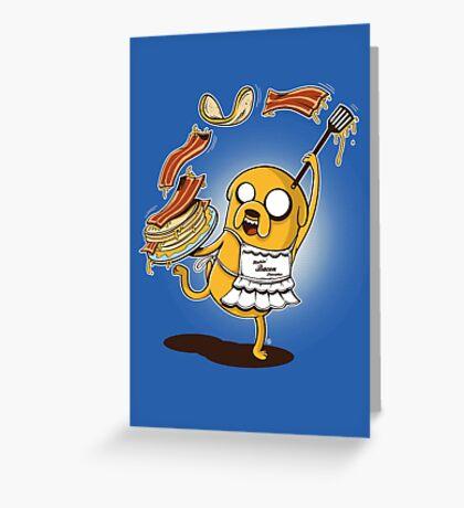 MAKIN' BACON PANCAKES Greeting Card