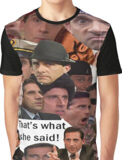 Many Faces of Michael Scott Graphic T-Shirt