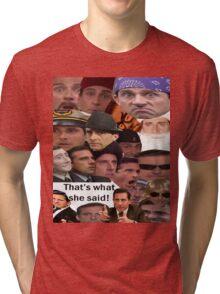 Many Faces of Michael Scott Tri-blend T-Shirt