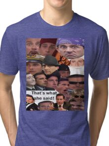 Many Faces of Michael Scott Tri-blend T-Shirt