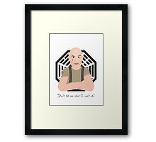 Lost - John Locke Framed Print