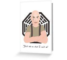 Lost - John Locke Greeting Card
