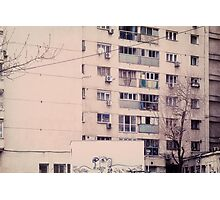 Vintage image of a tall block of flats. Photographic Print