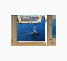 Nautical theme seen from a window frame. Malta. Unisex T-Shirt