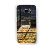 Strong contrast between light and shadow. Old classical entrance. Samsung Galaxy Case/Skin