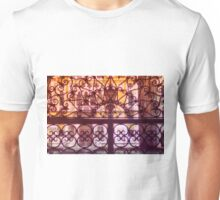 Venice scene. Decorative pattern view to buildings and canal. Unisex T-Shirt