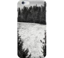 Dark winter landscape. iPhone Case/Skin
