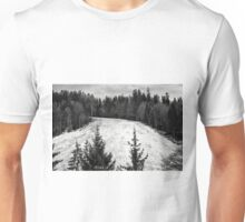 Dark winter landscape. Unisex T-Shirt