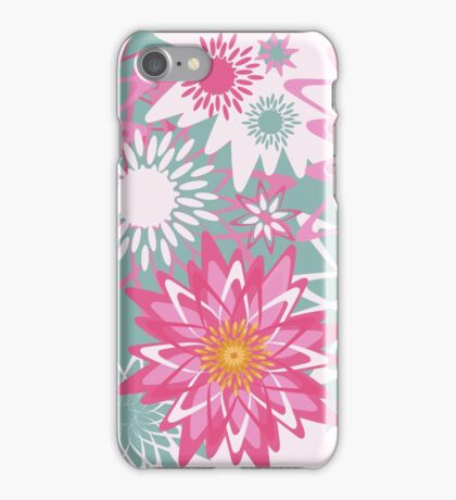 Graphical floral pattern iPhone Case/Skin