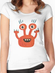 Funny Orange Creature Women's Fitted Scoop T-Shirt
