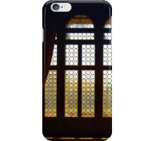 Victorian interior. Mosaic window with drapes. iPhone Case/Skin