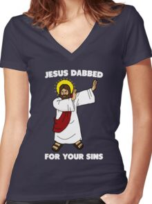 Dab Women's Fitted V-Neck T-Shirt