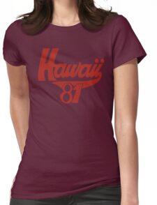 thom yorke's hawaii t shirt Womens Fitted T-Shirt