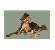 Ymir and Christa - Borzoi and Saluki Art Print