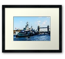 The River Thames city of London Framed Print