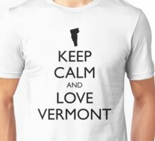 KEEP CALM and LOVE VERMONT Unisex T-Shirt