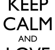 KEEP CALM and LOVE VERMONT Sticker