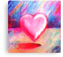 Retro Heart Pastel Canvas Print