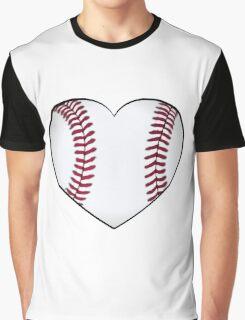 Baseball Heart Graphic T-Shirt