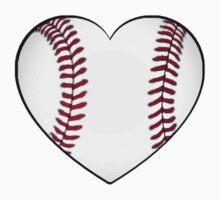 Baseball Heart One Piece - Short Sleeve