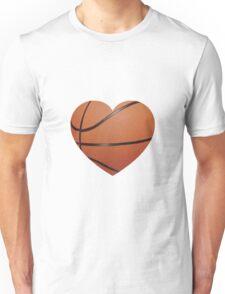 Basketball Heart Unisex T-Shirt