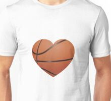 Basketball Heart Unisex T-Shirt