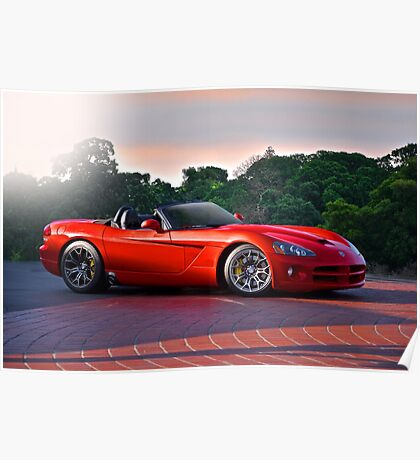 201X Dodge Viper 'In the Red' Poster