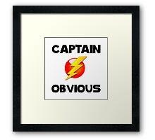 Captain Obvious Framed Print